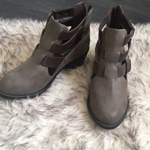 Gorgeous Brown Strappy Booties